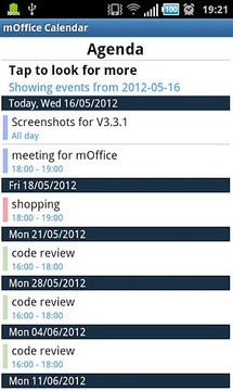 mOffice - Outlook sync