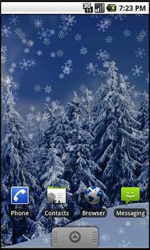 Holiday Snow Wallpaper