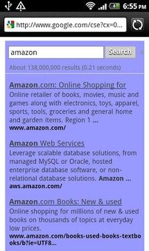 紫色为Google™搜寻