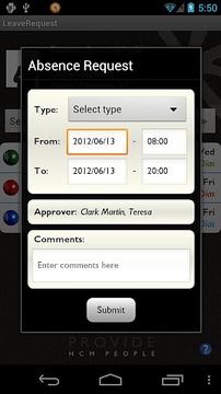 LeaveRequest for SAP
