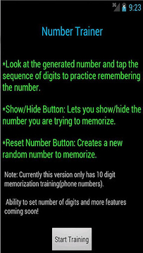 Number Trainer