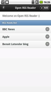 Open RSS Reader