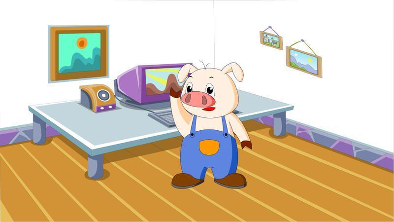 51万次下载     972kb 使用pp助手 森林里有一座小房子,小猪就住在