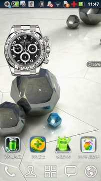 Rolex Black Clock Widget 2x2