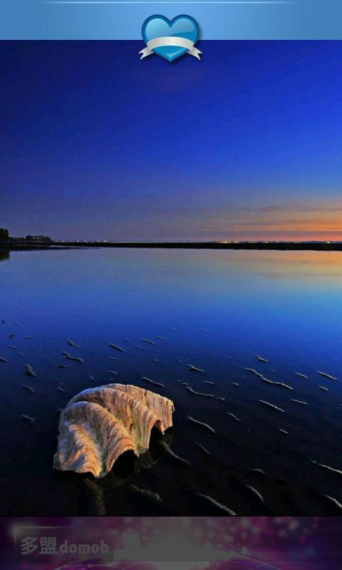 蓝色日落唯美风景壁纸下载_蓝色日落唯美风景壁纸手机