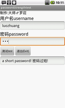 密码强度离线验证工具