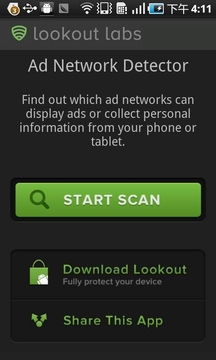 应用行为侦测 Lookout Ad Network Detector