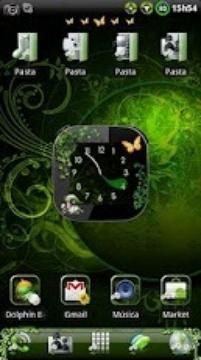 Nature v2 Clock widget