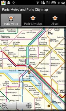 巴黎地铁和巴黎城市地图