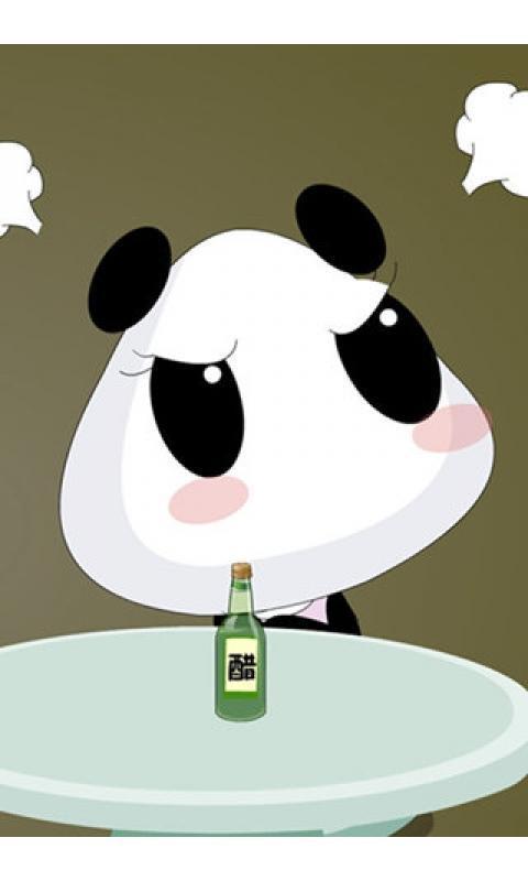 可爱卡通熊猫壁纸_安卓可爱卡通熊猫壁纸免费下载-pp