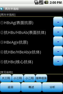 乙肝(HBV)指标参考