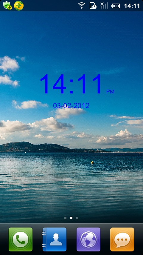 iPhone数字时钟