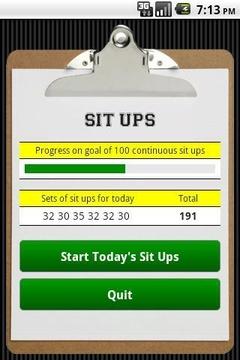 仰卧起坐 Sit Ups