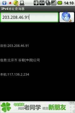 IPv4地址查询器