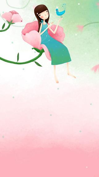 韩国手绘动态壁纸-小亲亲2