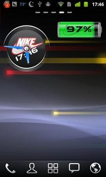 Nike时钟电池插件 Nike Widget Set