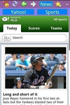 雅虎新闻和体育浏览器
