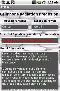 手机辐射预测 CallPhone Radiation Prediction