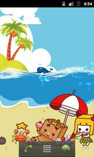 海边海浪卡通图片