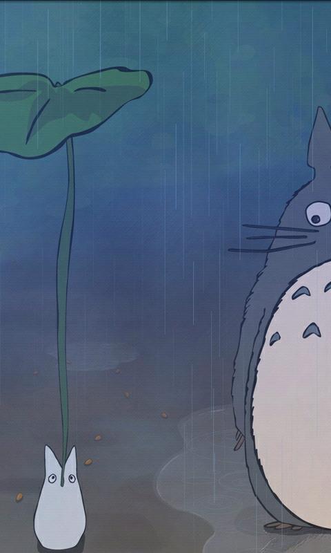 手机壁纸_可爱龙猫壁纸