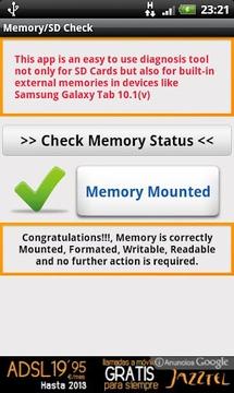 SD Card / Memory Check