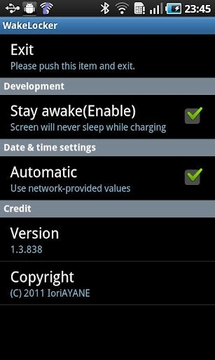 WakeLocker for Galaxy S