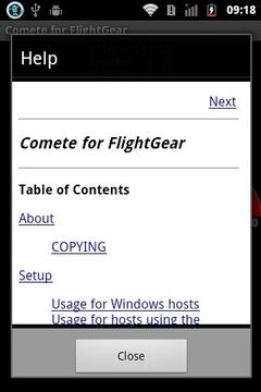 Comete for FlightGear