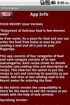 Resort Application