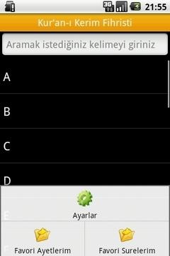 Kuranı Kerim Fihristi, Meali