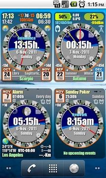 Astro Clock Widget