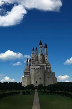 城堡和天空 castle and sky LWallpaper