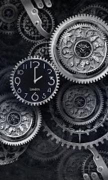 Black world time clock Free