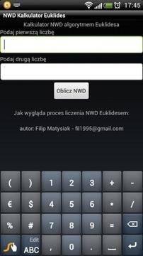 NWD Kalkulator Euklides