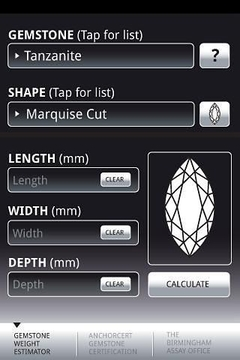Gemstone Weight Estimator