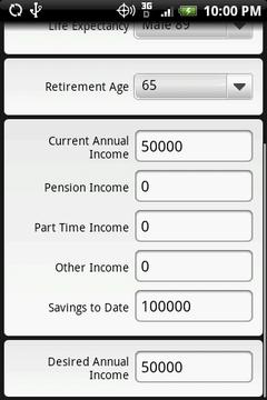 退休金计算器