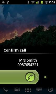 Call Confirm Slider
