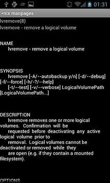 Linux/Unix manpages