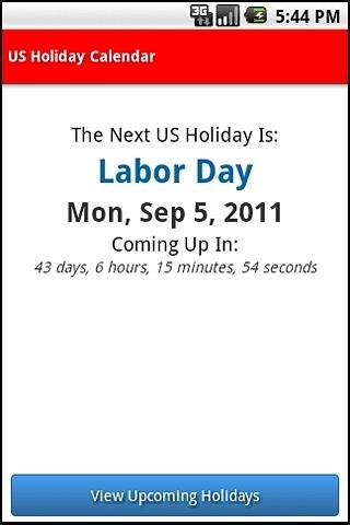 US Holiday Calendar