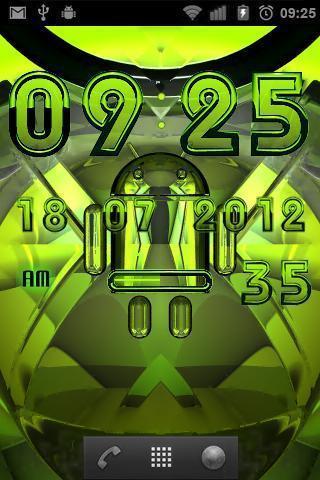 数字时钟android绿色