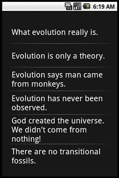 EVOLUTION FACTS