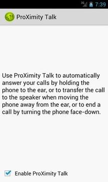 感应接听ProXimity