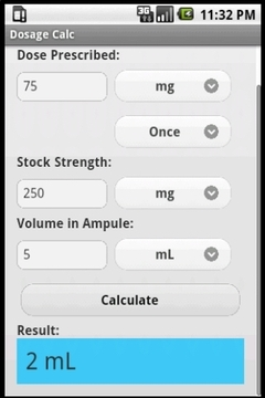Dosage Calc