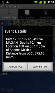 美国地震一览