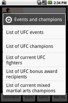 MMA Information