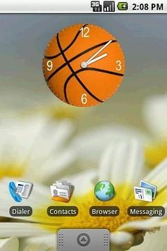 Basketball Clock Widget 2x2