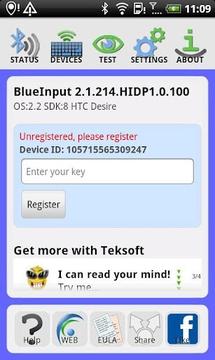 BlueInput Demo