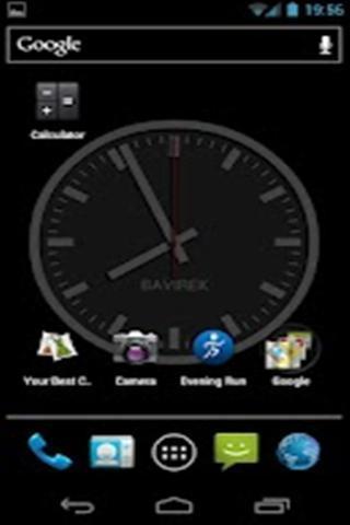 手机有没有一款时钟软件,安装后当手机暗屏时会在屏幕上显示一个时钟图片