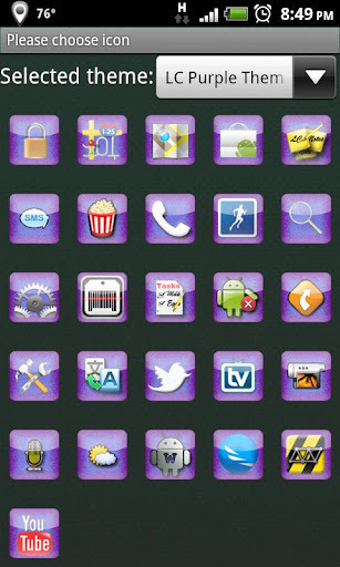 LC Purple Go Launcher Theme EX