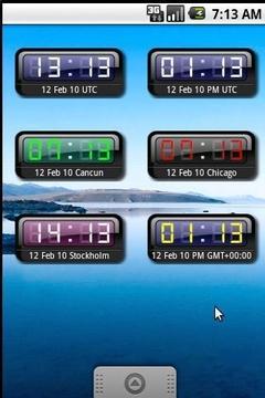 我的时钟部件+世界
