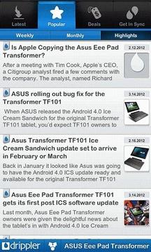 Top Eee Pad Transformer App